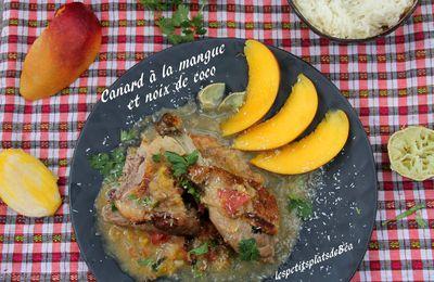 Canard à la mangue et à la noix de coco