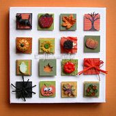 Autumn Craft Idea - Fall and Halloween Inchies on Canvas
