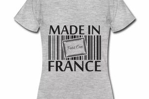 T shirt gris c femme Humour petit con Made in France
