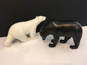 Ours Pompon blanc et brun