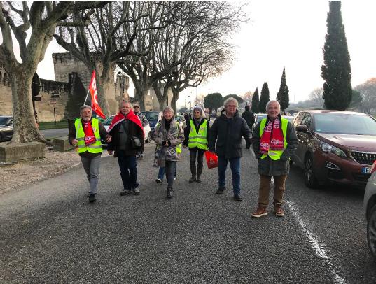 Avignon le 13 février: les lampions de la lutte