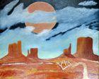 Clair de lune sur Monument Valley
