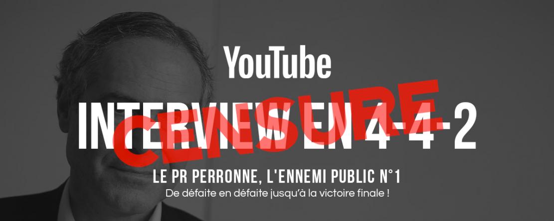 YouTube censure un entretien avec Christian Perronne