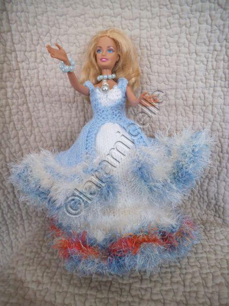 tuto gratuit barbie: robe princesse Iridia
