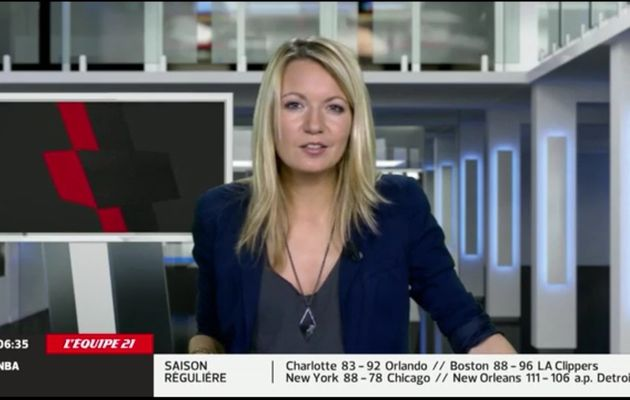 2013 12 12 - 06H40 - PERRINE STORME - L'EQUIPE 21 - LE JOURNAL