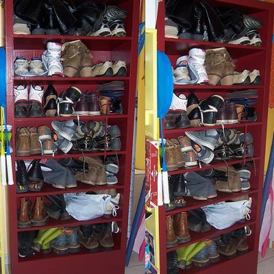 Meuble chaussures en carton