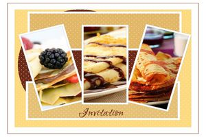 carte d'invitation chandeleur