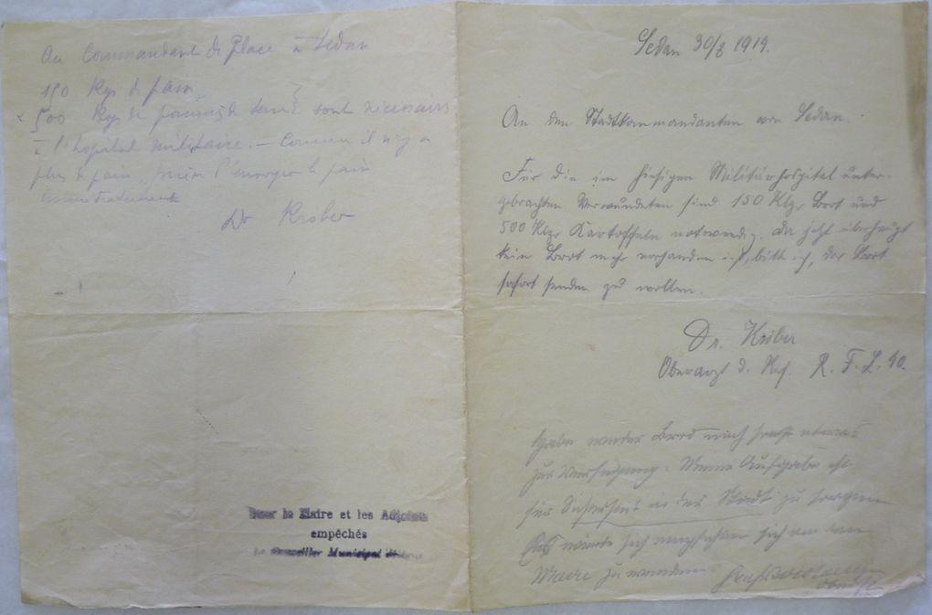 Les premières réquisitions allemandes en août et septembre 1914