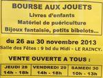 Bourse aux jouets au Raincy jusqu'à samedi 30 novembre 2013