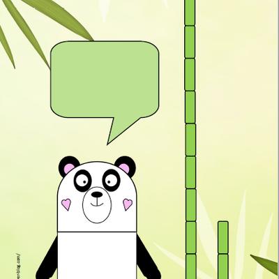 Panda bambous de 1 à 20