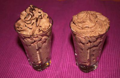 Mousse au chocolat noire toute légère