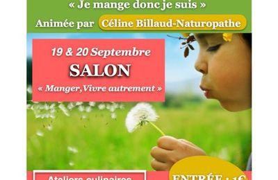 """Salon """"Manger, Vivre Autrement"""" première édition ~ j'y participe !"""