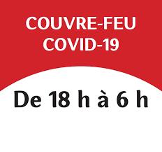 Changement des horaires de fin de nos formations, a partir du 14 janvier 2021, pour la durée du couvre feu à 18h
