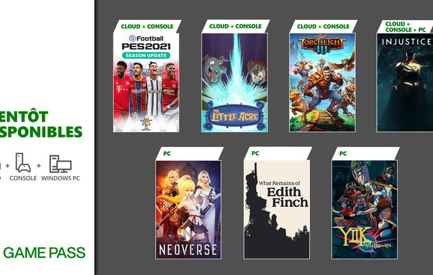 [ACTUALITE] Xbox Game Pass - En janvier : Injustice 2, PES 2021 Season Update et plus