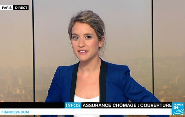 📸8 PAULINE PACCARD ce matin @FRANCE24 @France24_fr #vuesalatele