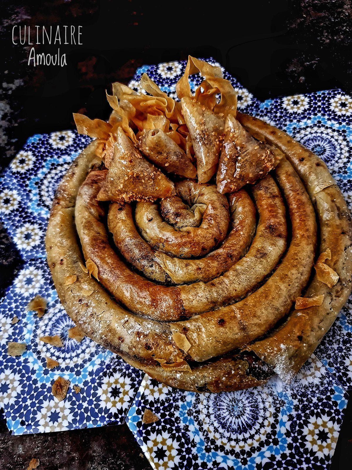 Mhancha au foie de poulet et tfaya