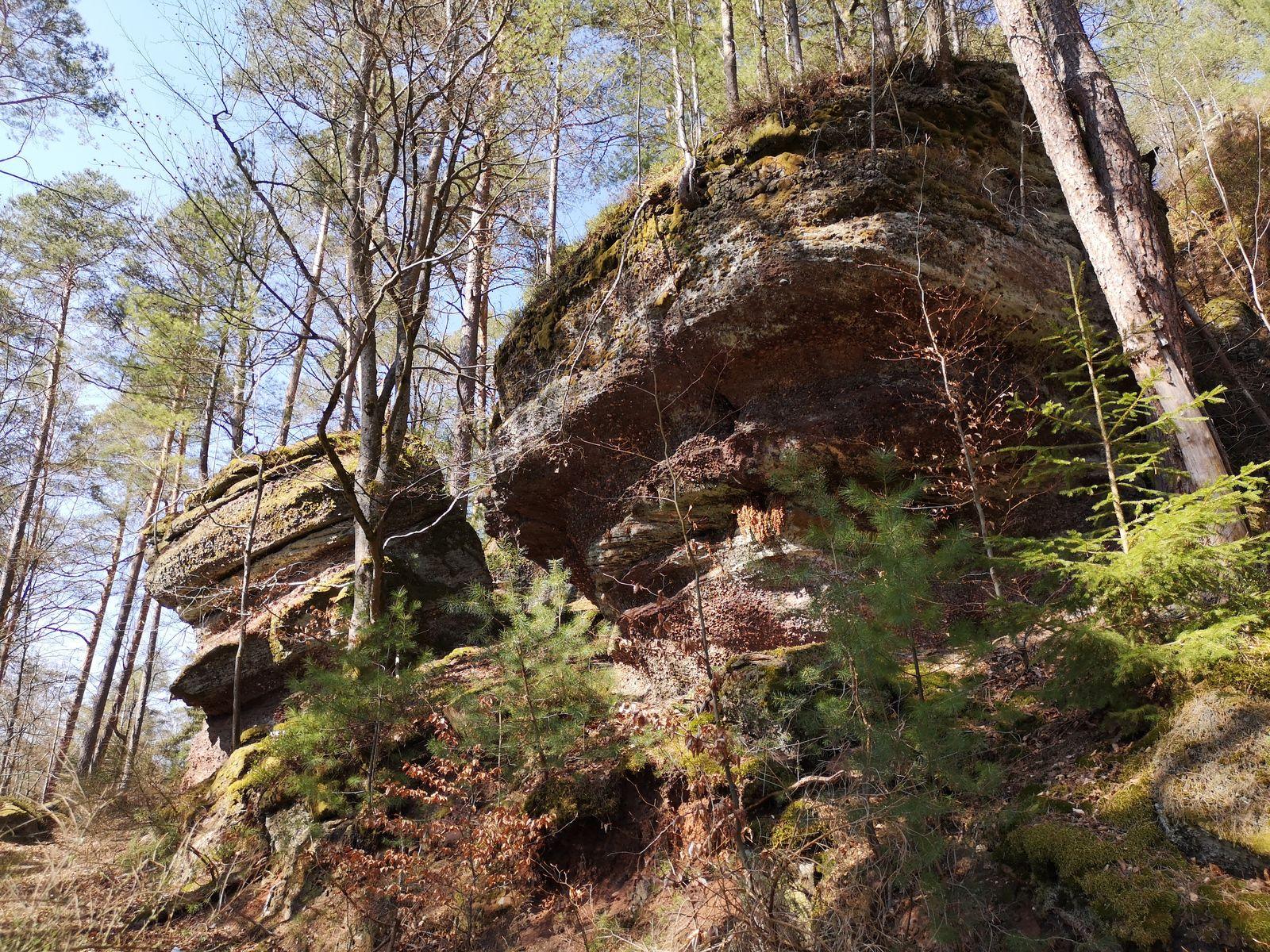 Un deuxième rocher, puis on arrive à l'entrée du Sentier des Roches