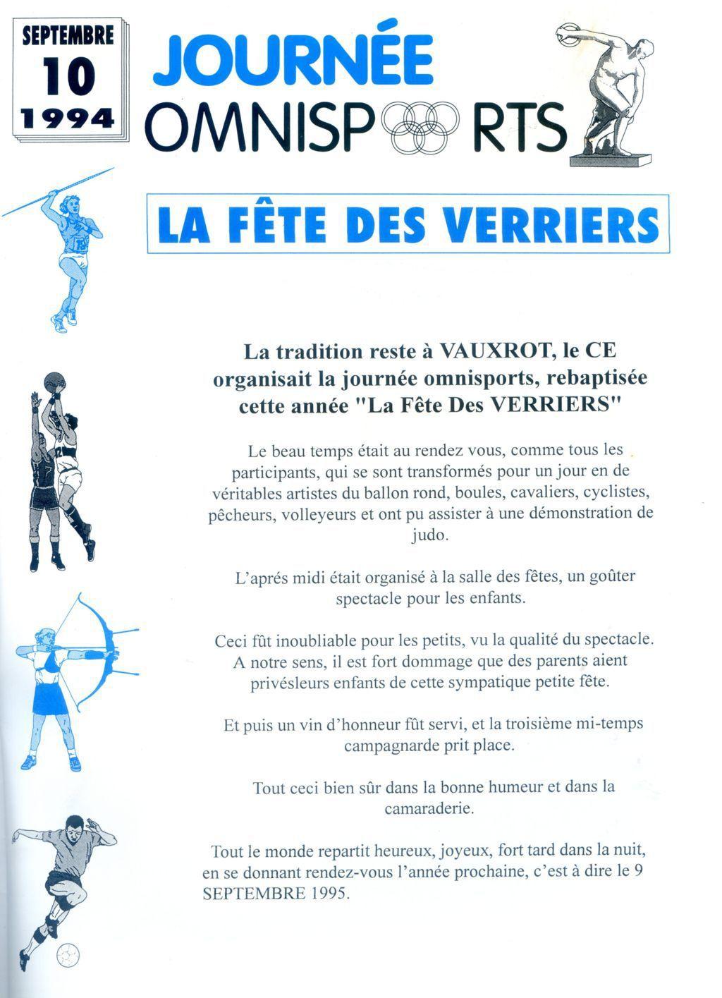 Album - groupe Saint-Gobain, la verrerie de Vauxrot (Aisne), les festivités (Ais