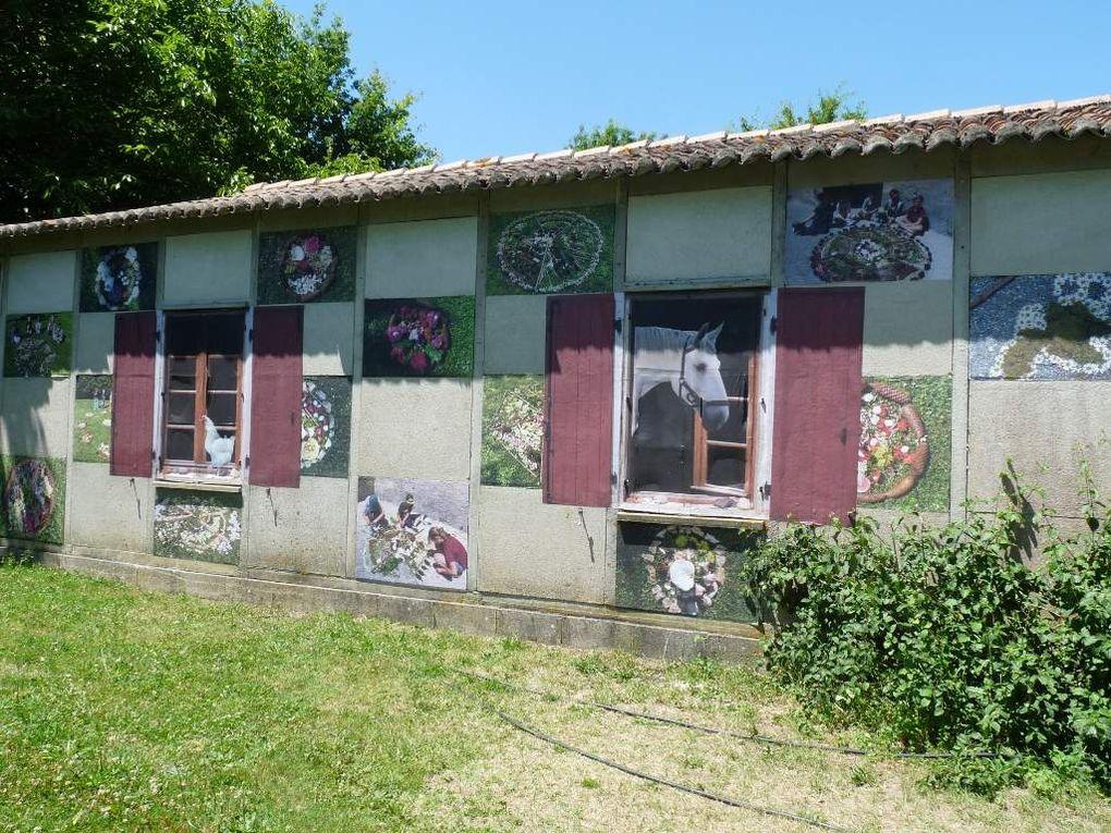 installations que j'ai réalisé pour le festival des sarabandes à Bignac . Festival organisé par l'association La Palène . www.lapalene.fr