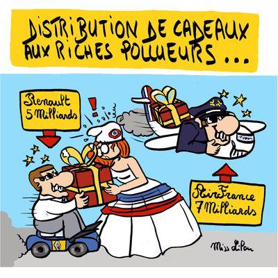 Distribution de cadeaux aux riches pollueurs...