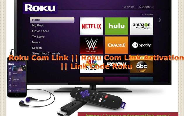How do I activate the Roku device using link code?