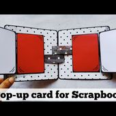 Pop-up card for Scrapbook | tutorial | how to make pop-up card
