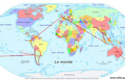 Tour du monde - les dates prévisionnelles