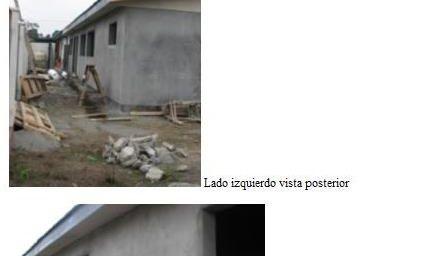 Photos de la construction de la nouvelle salle du projet de l'Ecole CEPAS, dans le secteur de Buen Retiro, à Coronel