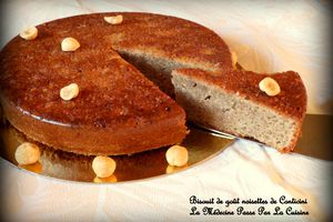 Biscuit de goût noisette de Monsieur Conticini