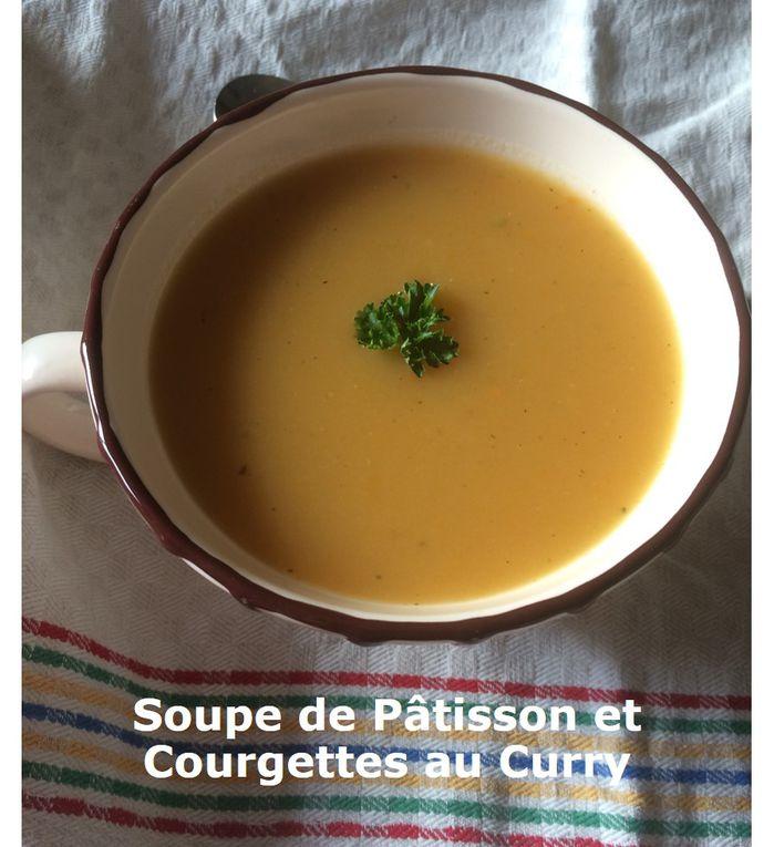Soupe de Pâtisson et Courgettes au Curry