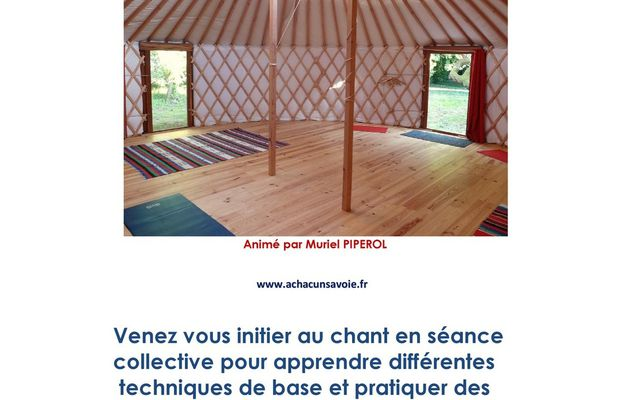 Atelier chant avec Muriel PIPEROL