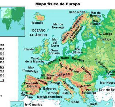 El relieve de Europa