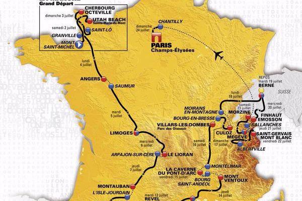 Découvrez le parcours du Tour de France 2016