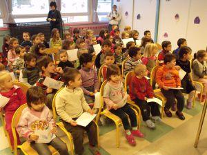 Saint Nicolas dans les écoles de la rue Wilson à Algrange en 2010
