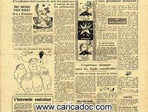 «La bombe accouche d'une souris», Le Crochet satirique du vendredi, 5/7/1946.