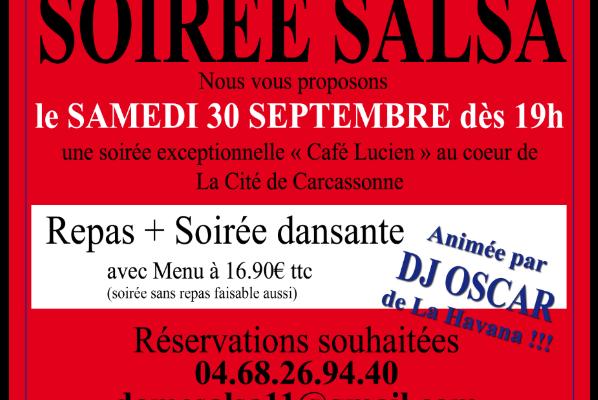 SALSA ce samedi 30 septembre à Carcassonne