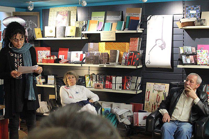 Dominique Lin à la librairie Montfort de Vaison-la-Romaine
