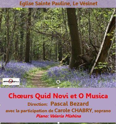 Concert de musique italienne et française dimanche 19 mars 2017 à 15 heures à l'église Ste Pauline