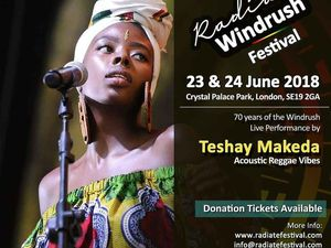Teshay Makeda performing at Radiate 7Oth Windrush Festival in Crystal Palace, London