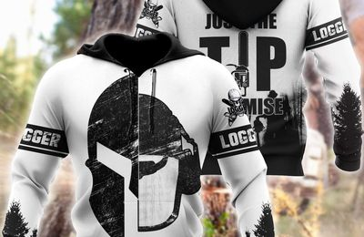 Logger – Viking Just the Tip I Promise 3D Hoodie