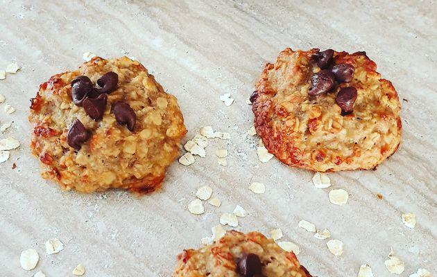 Cookies à la banane sans oeufs, sans beurre et sans gluten
