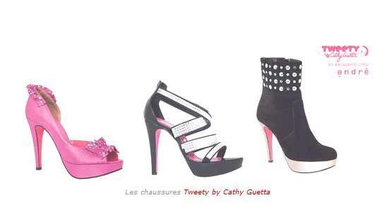 "Les escarpins ""Tweety by Cathy Guetta"" chez André"