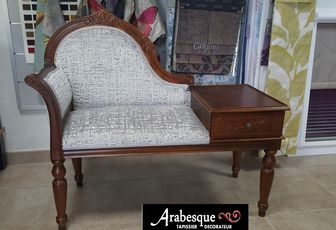 restauration fauteuil telephone arabsque tapissier decorateur thiers