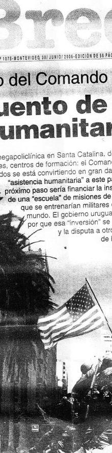 """Uruguay: J. Bayardi recibe su """"merecido"""" premio de EEUU luego de haber negociado en su """"brillante gestión"""" como ministro de defensa de Tabaré, la instalación de las bases del Comando Sur en Uruguay"""