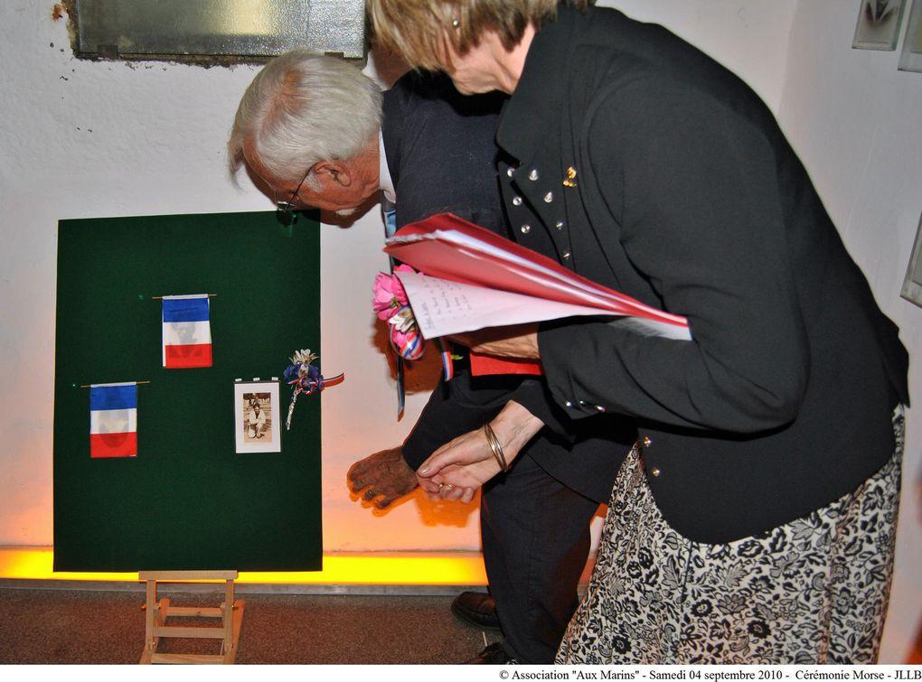 Cérémonie à la mémoire des marins du sous-marin Morse au Mémorial national des marins morts pour la France de la Pointe Saint Mathieu en Plougonvelin (Pays d'Iroise).