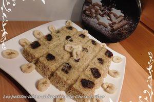 Gâteau à la banane et aux flocons d'avoine