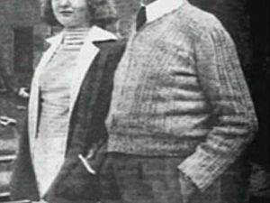 Cordula Schacht, pictured (left) with her father and Hitler's economist Hjalmar Schacht - Schacht is representing Goebbels' estate in the case against Random House Germany and its imprint Sidler over Peter Longerich's book