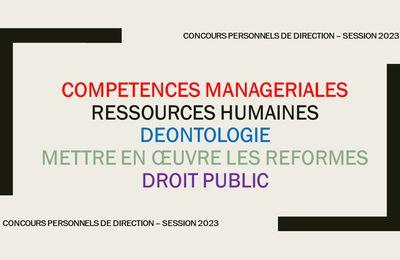 Concours chef d'établissement (session 2023) : recruter des véritables managers