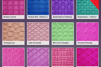 Over 50 patterns are