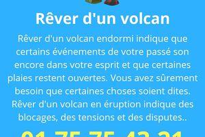 Interprétation du rêve de volcan en sommeil ou d'un volcan en éruption